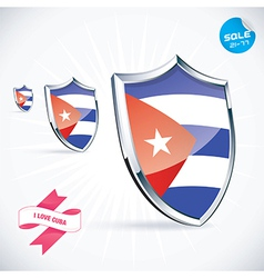 I Love Cuba Flag vector