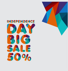 Independence day big sale 50 template design vector