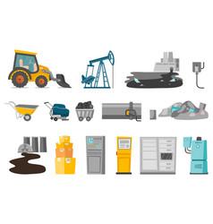 Industrial cartoon set vector