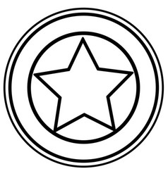 Isolated usa star inside seal stamp design vector