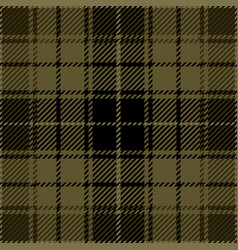 khaki tartan plaid seamless pattern vector image
