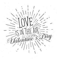 Love is in the Air text and lettering vector image