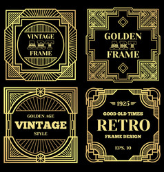 luxury poster design with gold frames in vector image