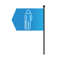 man pictogram cartoon vector image