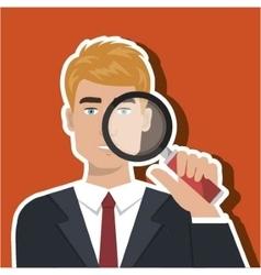 Man search icon vector