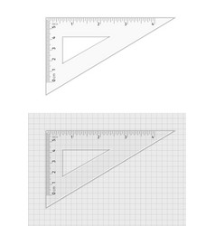measuring tool triangle ruler 5 cm and 4 inch vector image
