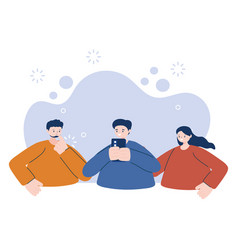 Men and woman with smartphone design vector