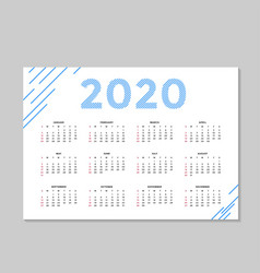 modern corporate calendar a4 background template vector image