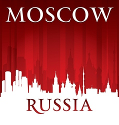 Moscow Russia city skyline silhouette vector image