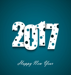 New Year wishes with circles on an blue background vector