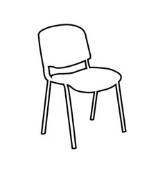 office chair line icon outline sign vector image