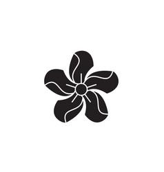 oleander black concept icon oleander flat vector image
