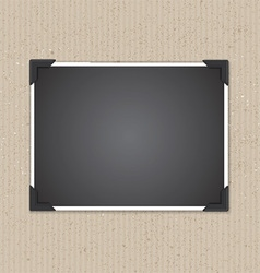 photo frame on cardboard texture 1207 vector image