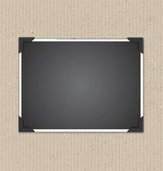 Photo frame on cardboard texture 1207 vector