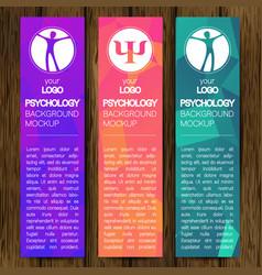 Psychology web vertical banner design vector