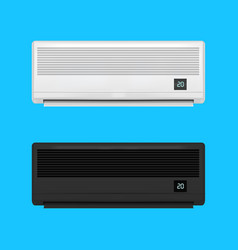 Realistic detailed air conditioner set vector