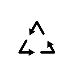 recycle arrow icon on white background can be vector image