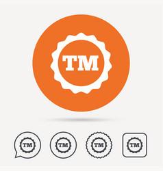 registered tm trademark icon intellectual work vector image