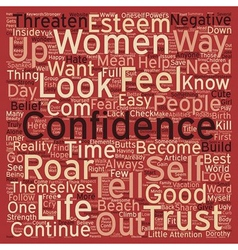 Roar with confidence text background wordcloud vector