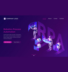 robotic process automation isometric concept vector image
