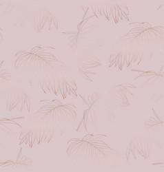 rose gold elegant decorative palm leaves vector image