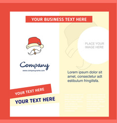 santa clause company brochure template busienss vector image