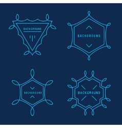 Set of Elegant lineart logo design elements vector image