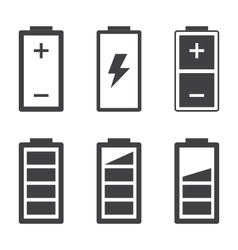Set of simple battery icons and symbols vector