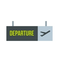 Sign of departure at the airport icon vector