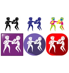Sport icon design for boxing vector image