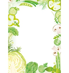 Vegetable Frame vector image