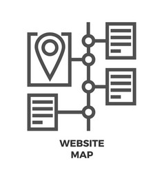 website map line icon vector image