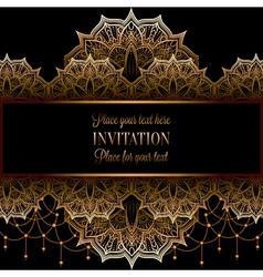 Wedding invitation or card intricate mandala with vector