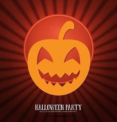 With halloween and pumpkin vector