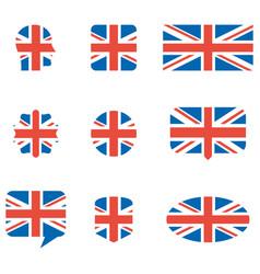 english flag icons vector image