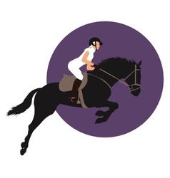 Equestrian sports design vector image vector image