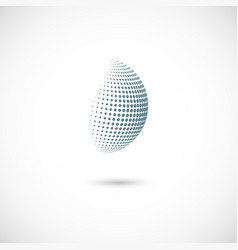 halftone spheres design element with vector image