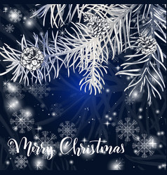 elegant christmas blue background vector image vector image