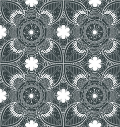 Lace White Endless Seamless Pattern vector image vector image
