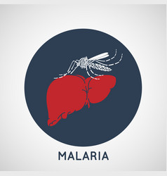 malaria logo icon design vector image