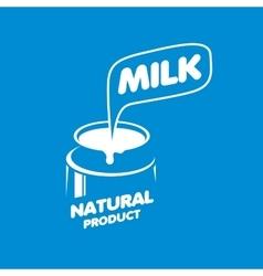 Milk logo vector image vector image