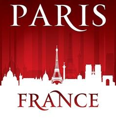 Paris France city skyline silhouette vector image vector image