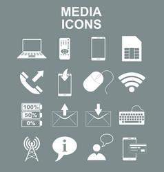 social media icons vector image vector image