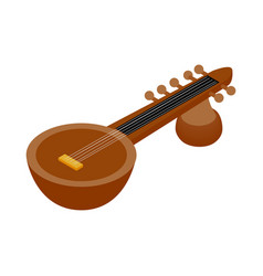 Traditional Indian sarod icon isometric 3d style vector image vector image