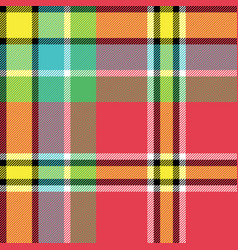 yellow red green blue check fabric texture vector image vector image