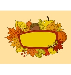 Autumn symbols design element vector image