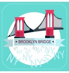 Brooklyn Bridge New York icon flat vector image vector image
