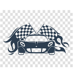 Sports cars silhouette vector