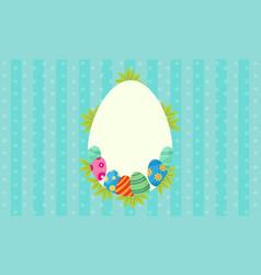 art of easter egg frame vector image vector image