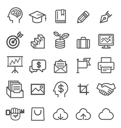 Business education line icons vector image vector image